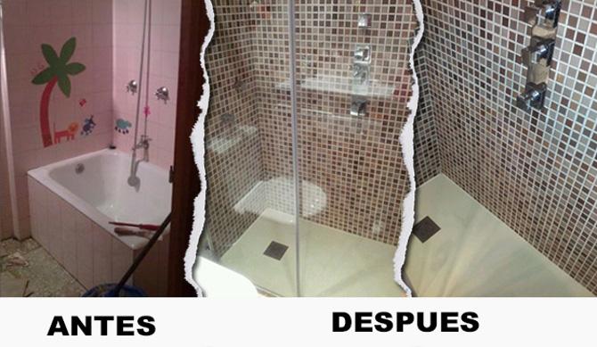 Antes Y Después Cambio Bañera Por Plato De Ducha Cambio De
